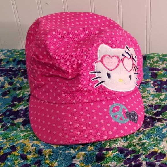 83881e15a Hello Kitty Accessories | Love Peace Short Brim Cap | Poshmark